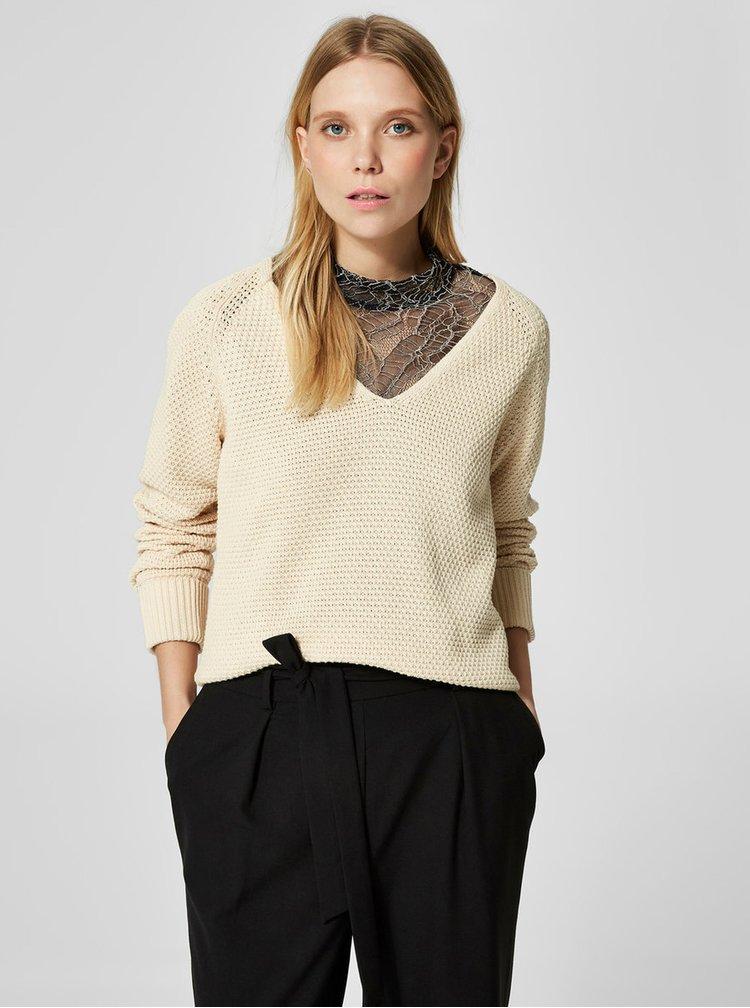 Krémový svetr Selected Femme Suma