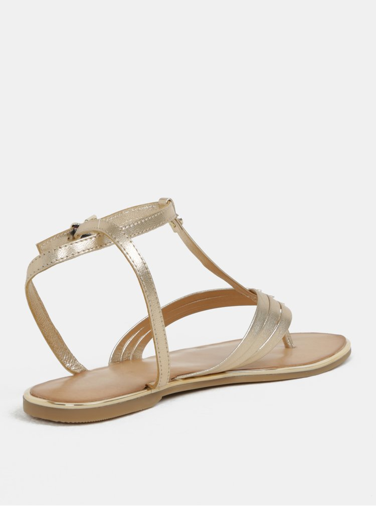 Dámské kožené sandály ve zlaté barvě Tommy Hilfiger