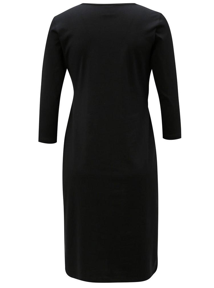 Černé těhotenské/kojicí šaty Mama.licious Marigold