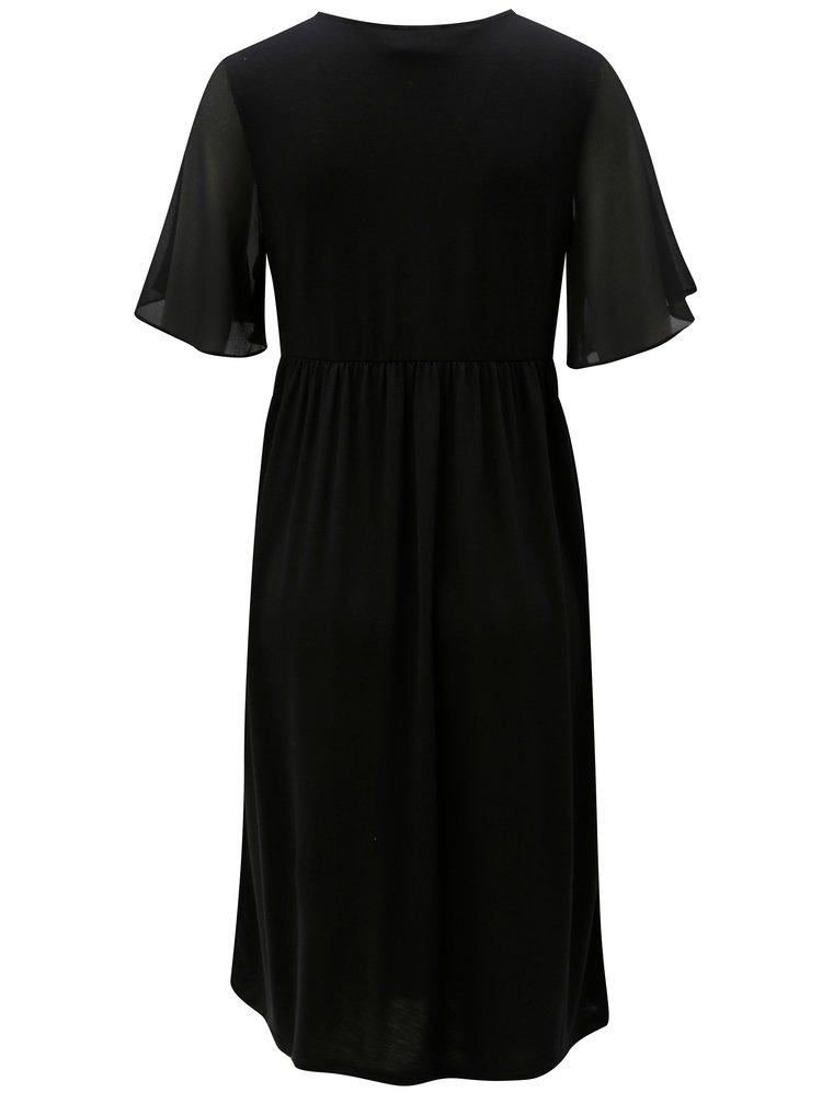 Černé těhotenské/kojicí šaty s krátkým rukávem Mama.licious Billie