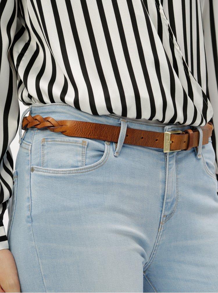 Hnědý dámský kožený propletený pásek Calvin Klein Jeans