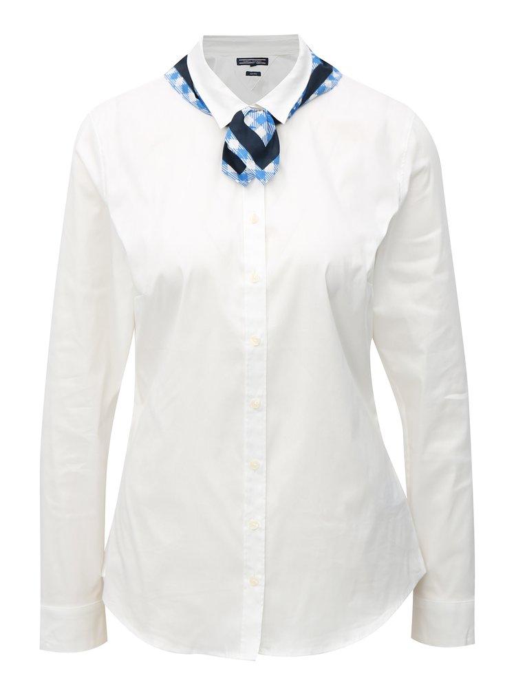 Biela dámska slim fit košeľa s dvoma šatkami Tommy Hilfiger