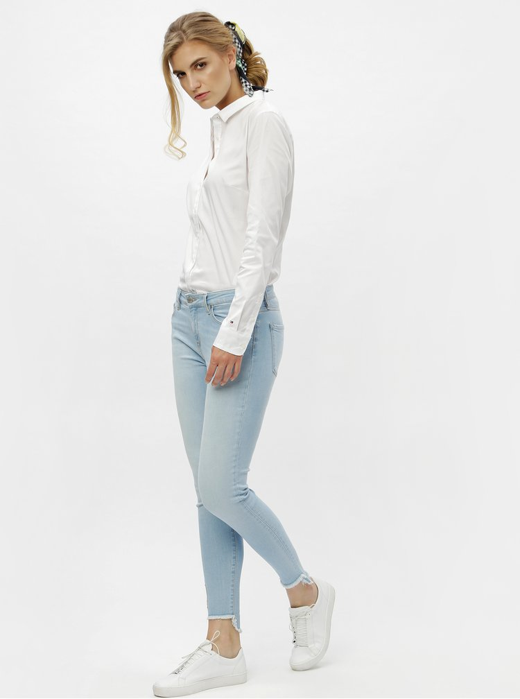 Bílá dámská slim fit košile se dvěma šátky Tommy Hilfiger