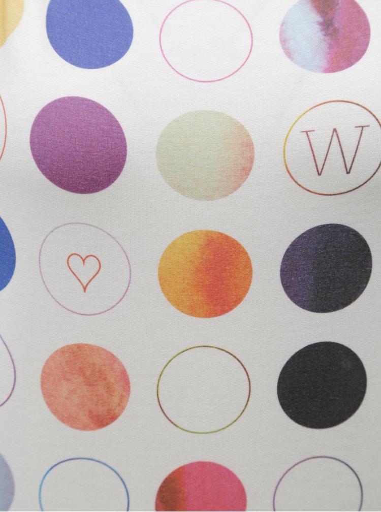 Bílé tričko s barevnými puntíky WOOX Punctatus Albus