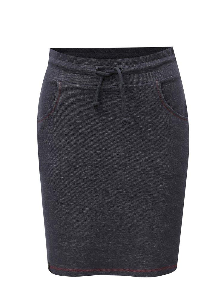 Tmavě šedá žíhaná sukně s kapsami WOOX Simplex Elasticus