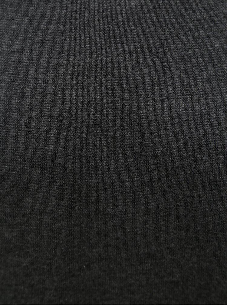 Tmavě šedý pánský svetr WOOX Fluctus Anthracite
