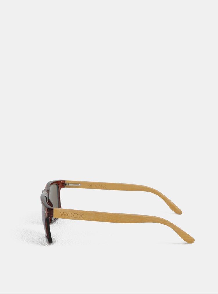 Hnědé sluneční brýle s bambusovými nožičkami WOOX Contrasol Bambusa Fuscus