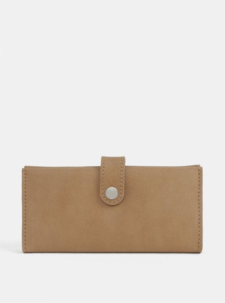Světle hnědá kožená peněženka WOOX Moneta Magna Natura