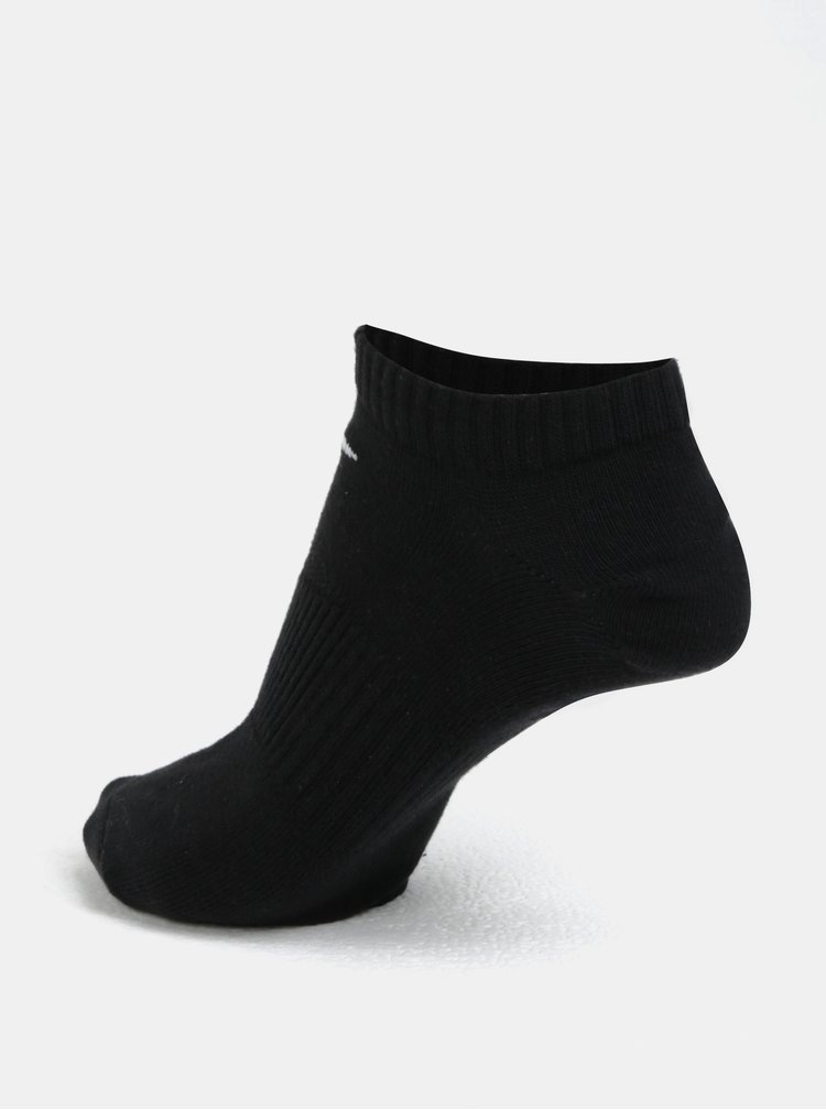 Set de 3 perechi de sosete negre Nike Lightweight