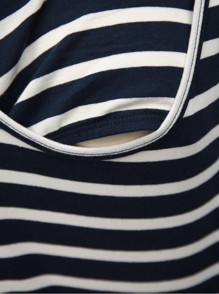 Sada dvou těhotenských/kojicích basic tílek v bílé a modré barvě Mama.licious Lea