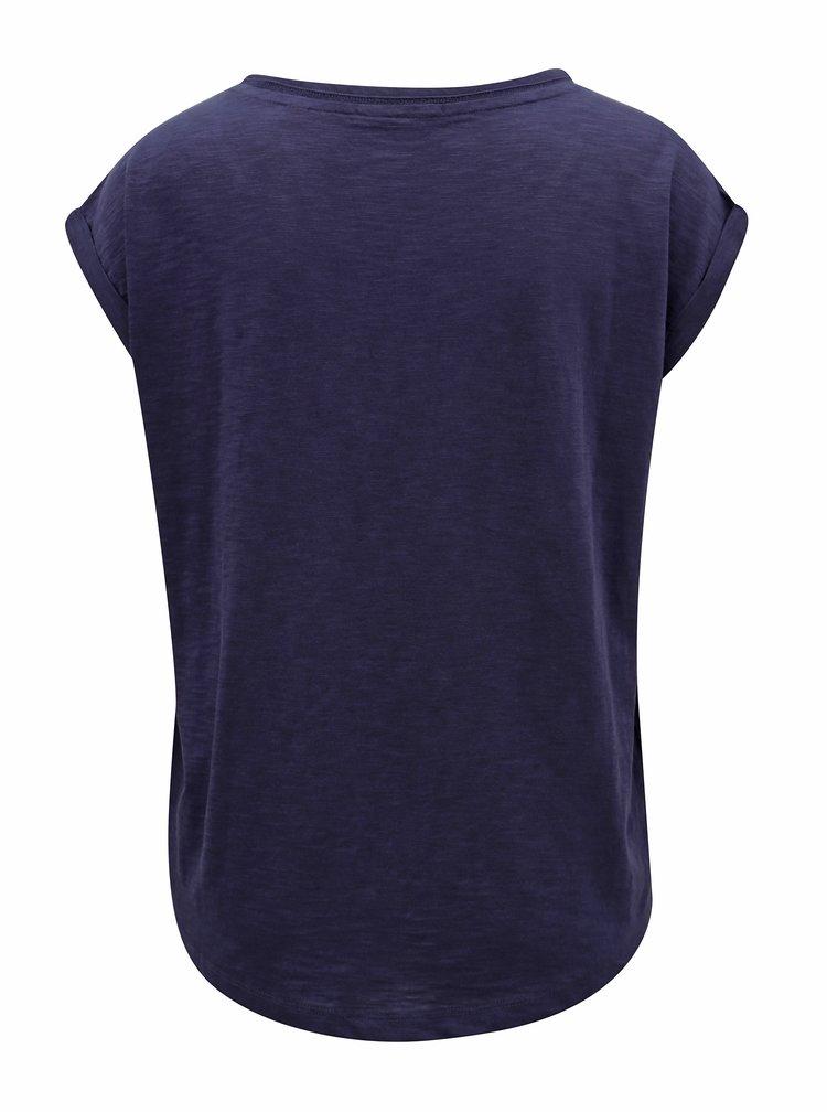 Tmavě modré dámské volné tričko s.Oliver
