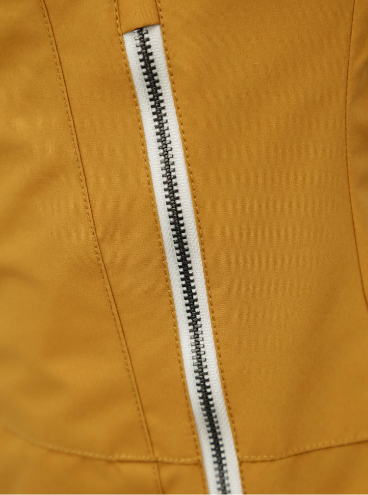 Hořčicová dámská nepromokavá lehká bunda WOOX Ventus Urban Inca Gold