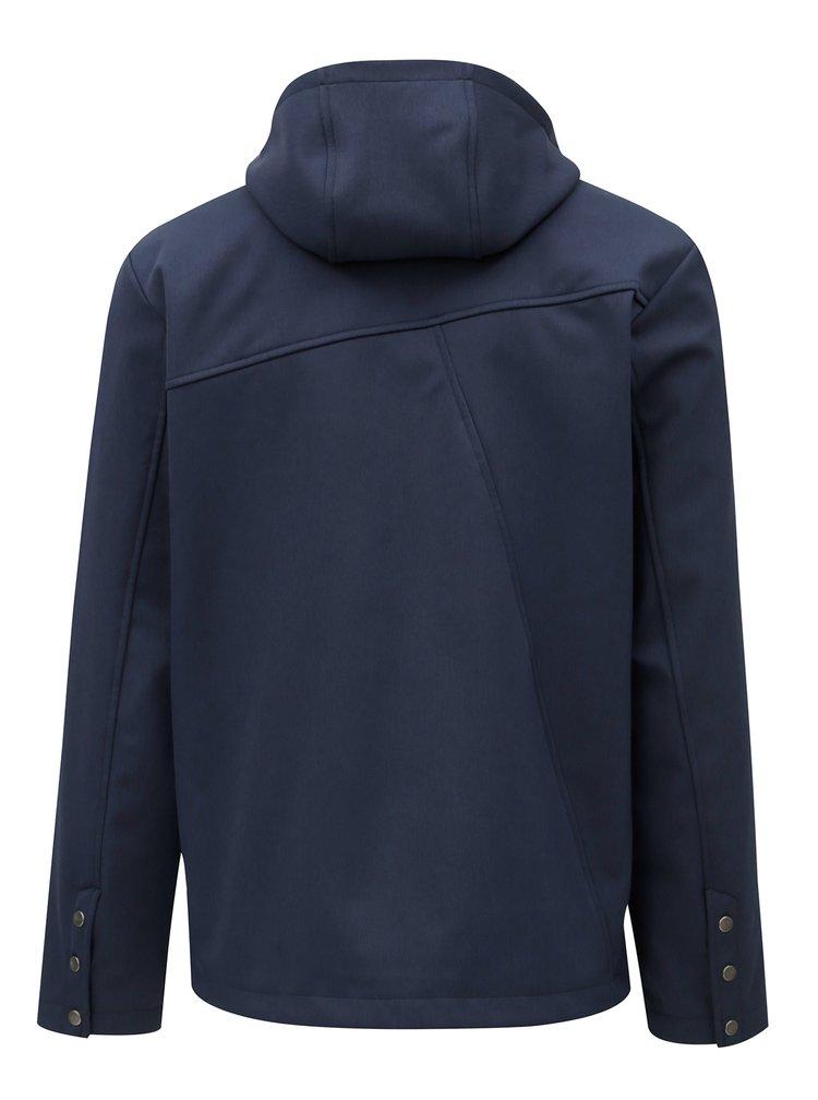 Tmavě modrá pánská softshellová nepromokavá bunda WOOX Putamen Urbs