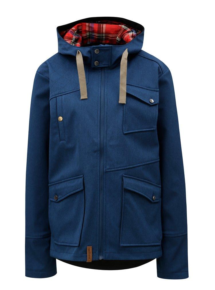 Tmavě modrá dámská softshellová voděodolná bunda WOOX MOLLIS CONCHA