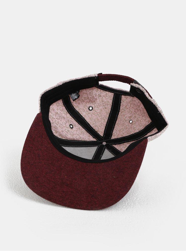 Vínovo-růžová dámská kšiltovka WOOX Mitra Recta Rosea