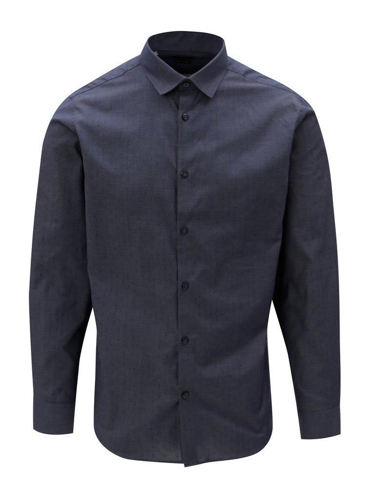 Camasa albastru inchis formala slim fit Selected Homme Preston