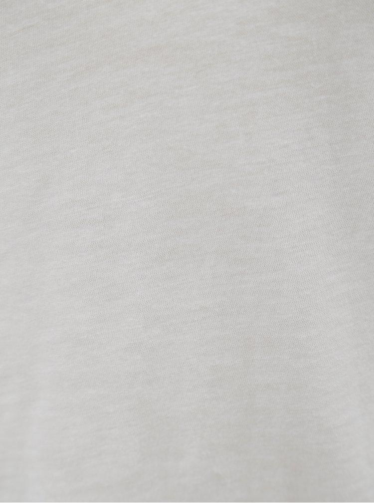 Bílé dámské oversize tričko s véčkovým výstřihem Stanley & Stella Slub
