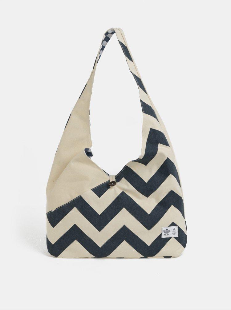 Modro-béžová taška přes rameno WOOX Sacculi Fulgur