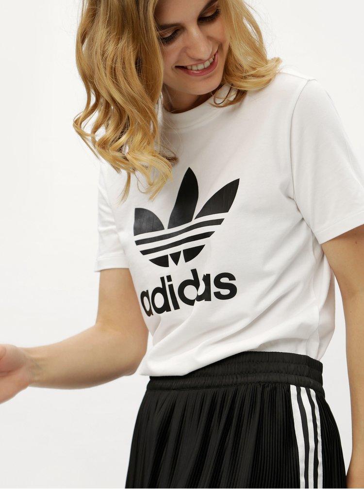 Fusta plisata cu dungi adidas Originals