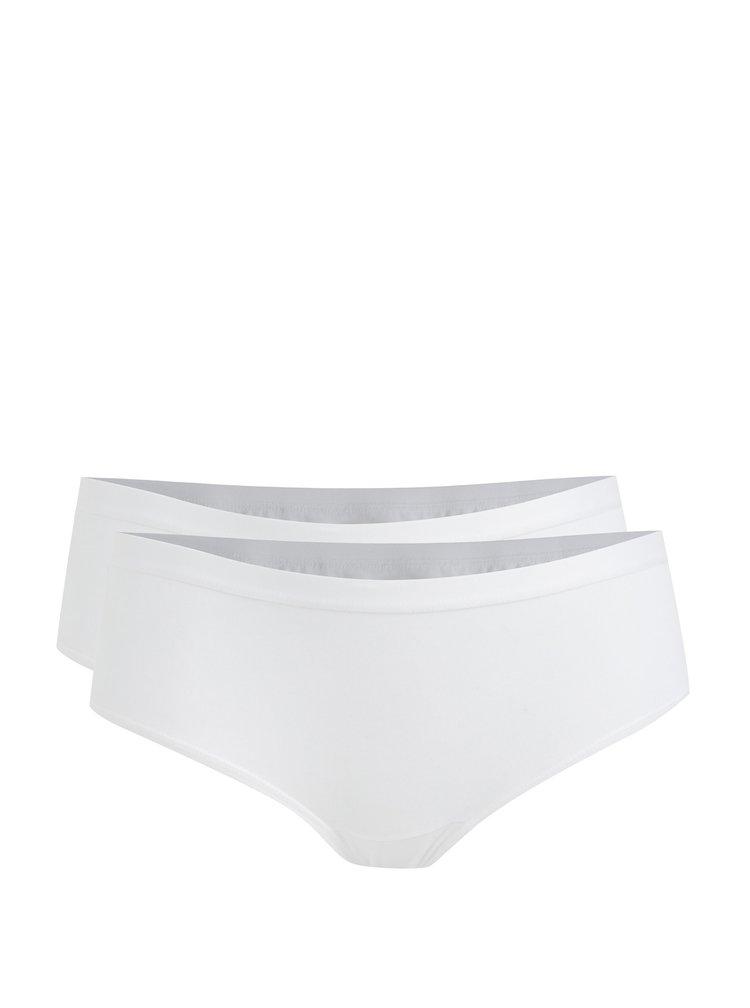 Sada dvou bavlněných panty kalhotek v bílé barvě Bellinda