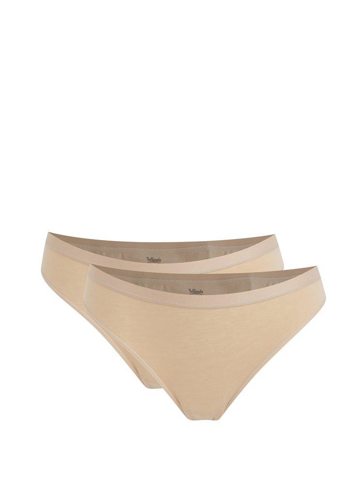 Sada dvou bavlněných kalhotek v tělové barvě Bellinda
