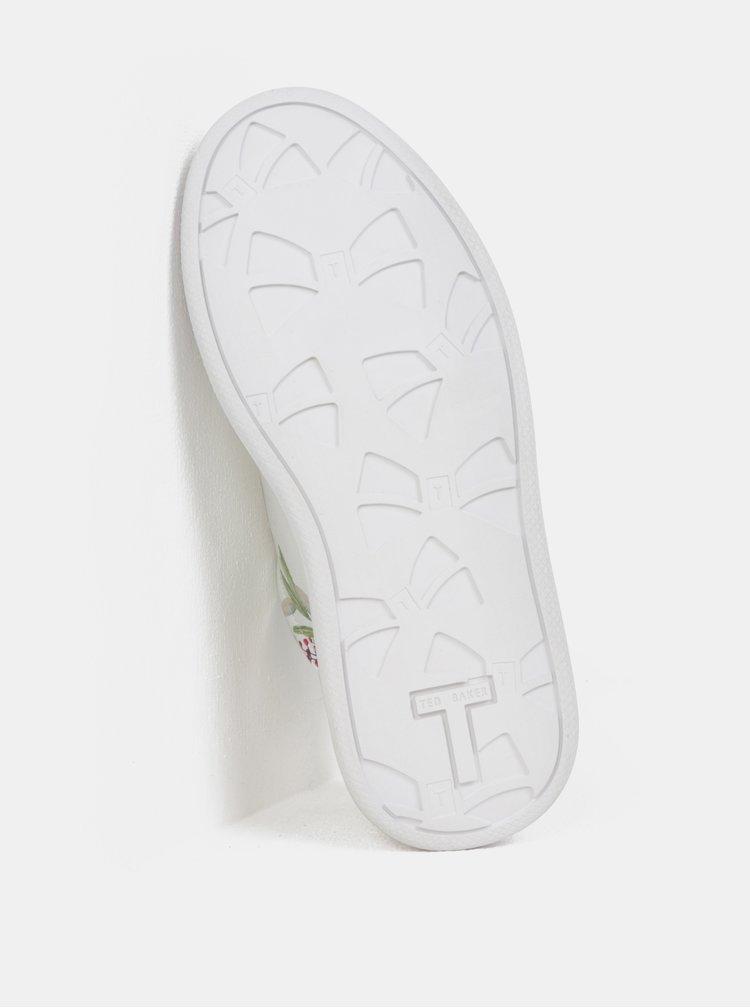 Biele dámske kožené tenisky na platforme Ted Baker Ailbe