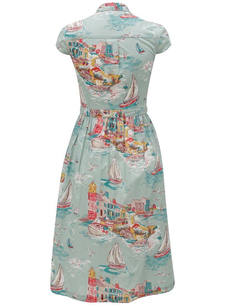 Mentolové vzorované košilové šaty Cath Kidston