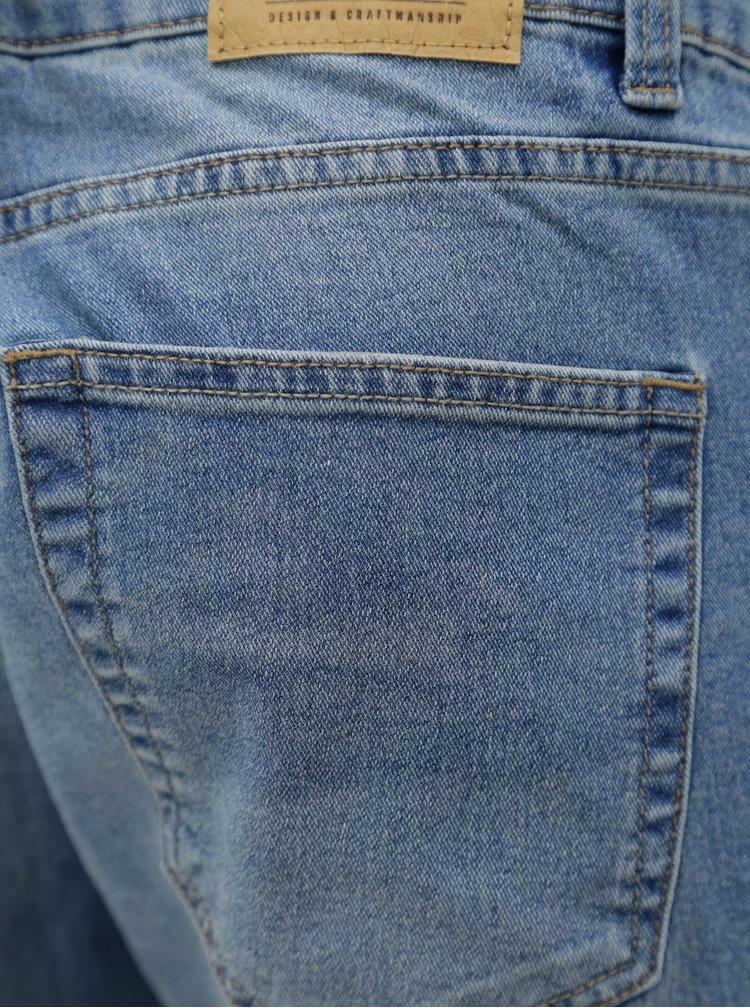 Světle modré skinny džíny s vyšisovaným efektem ONLY & SONS Extreme