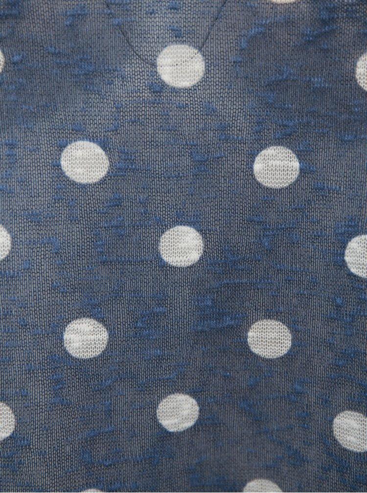 Tricou de dama albastru oversize cu spate suprapus Broadway Cornelia