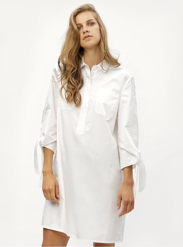 Bílé košilové šaty Tommy Hilfiger