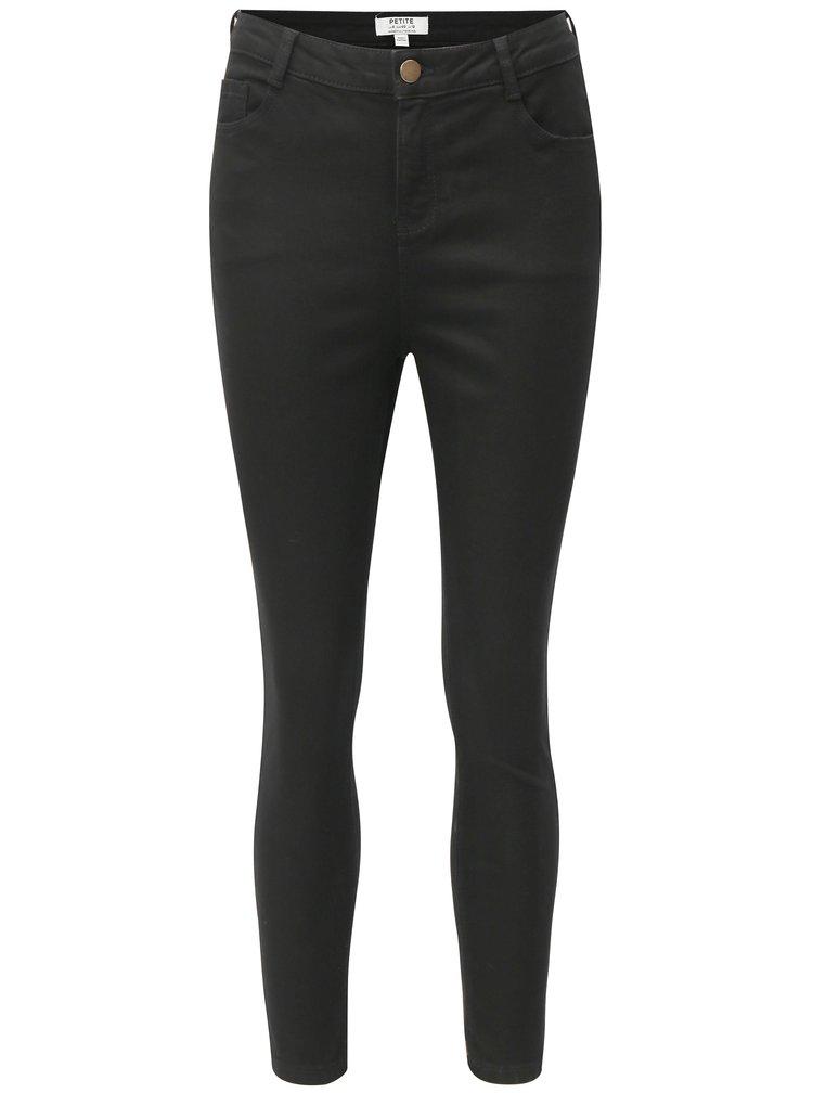 Černé džíny s vysokým pasem Dorothy Perkins Petite