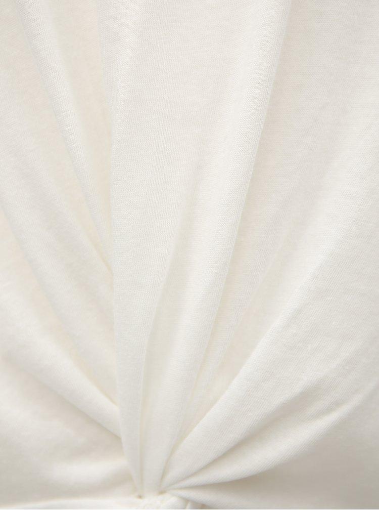 Tricou de dama alb cu nod Broadway Dominique