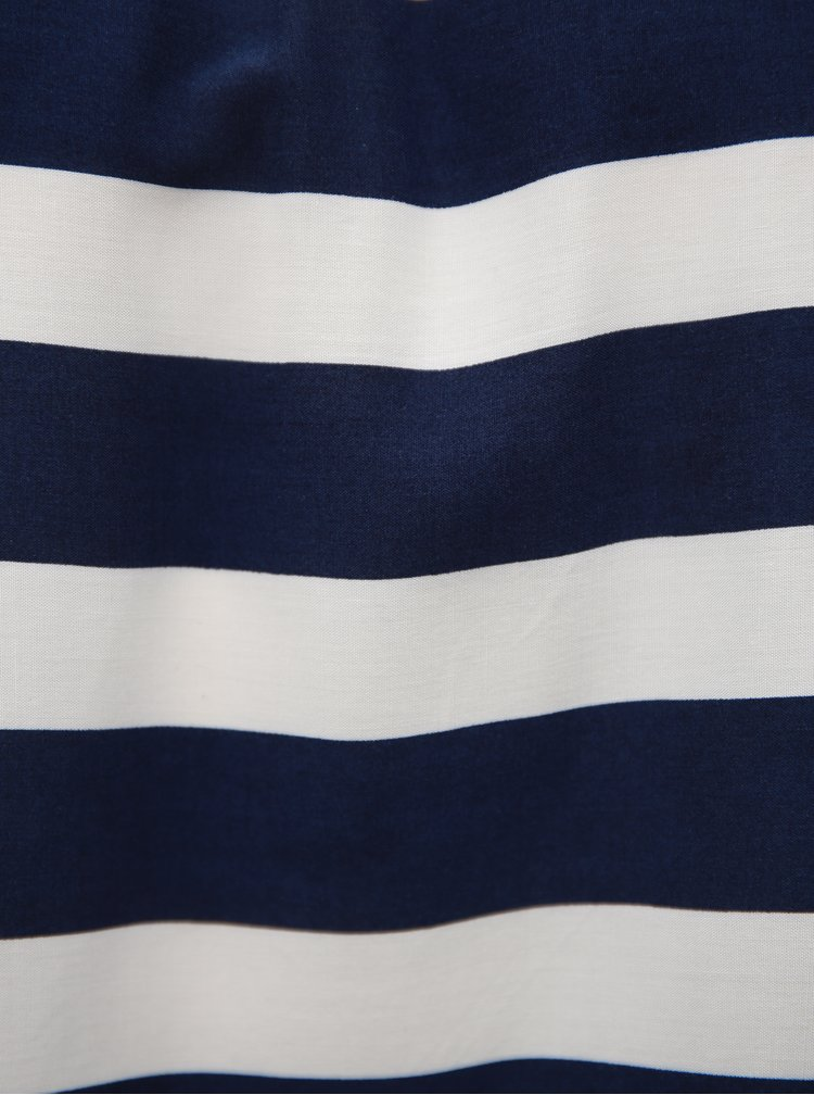 Bílo-modrá pruhovaná halenka s odhalenými rameny Broadway Fairly