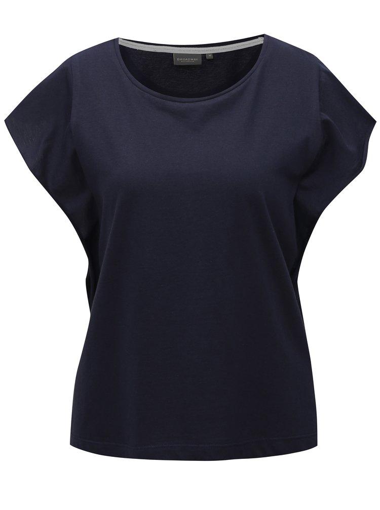 Modré dámské basic tričko Broadway Farah