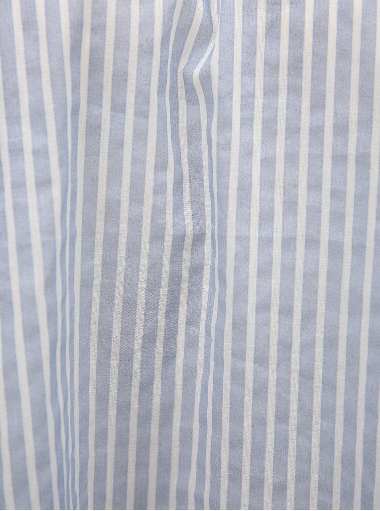 Bílo-modrá pruhovaná halenka s odhalenými rameny Broadway Faline