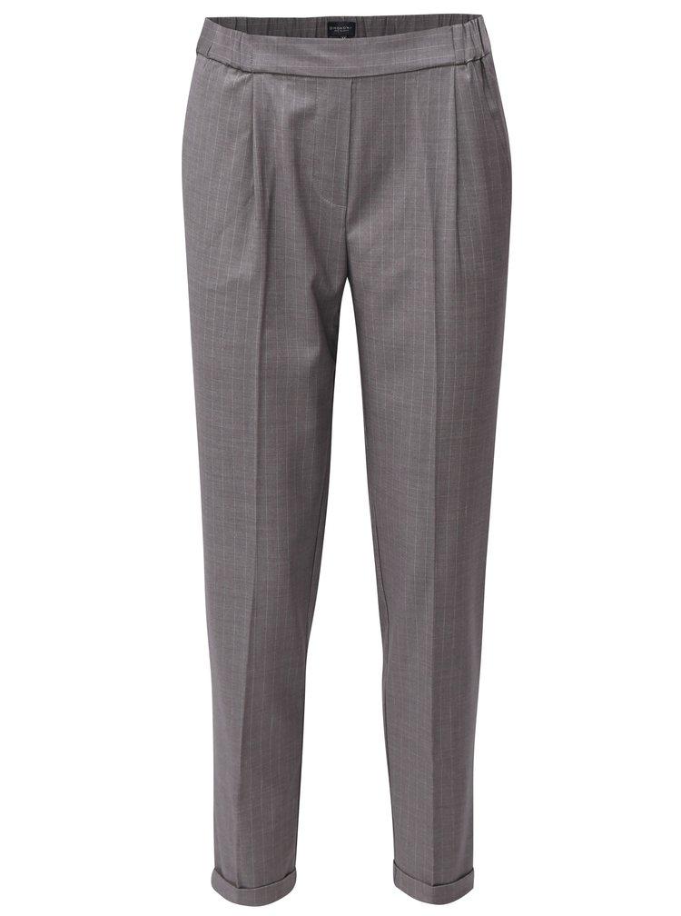 Šedé dámské pruhované kalhoty Broadway Danelle
