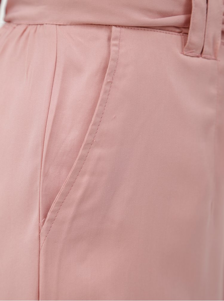 Světle růžové culottes s páskem ONLY Devon