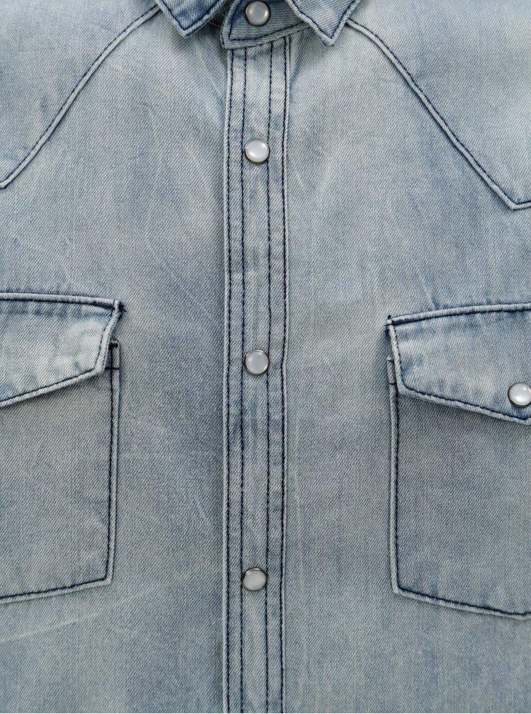 Světle modrá pánská džínová košile Broadway Dow