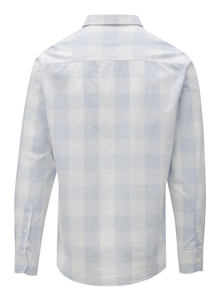 Světle modrá pánská kostkovaná košile Broadway Dow