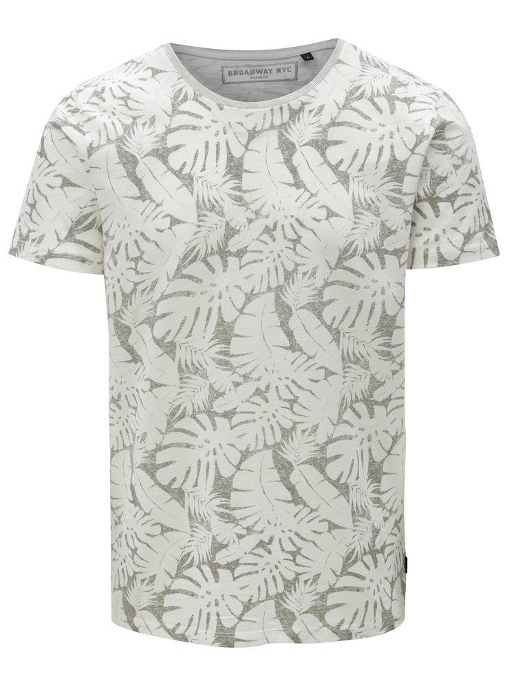 Bílé pánské vzorované tričko Broadway Ernest