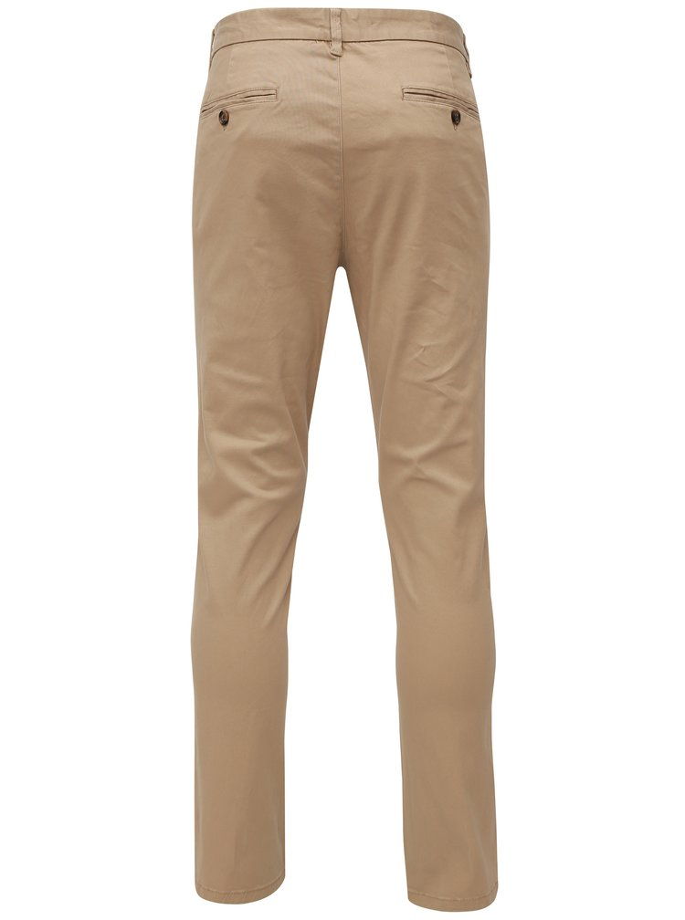 Pantaloni bej slim fit chino Burton Menswear London