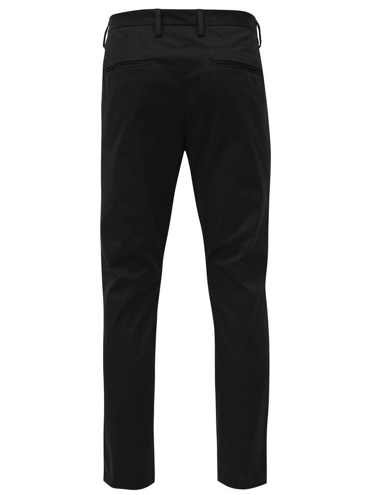 Pantaloni negri slim fit chino Burton Menswear London