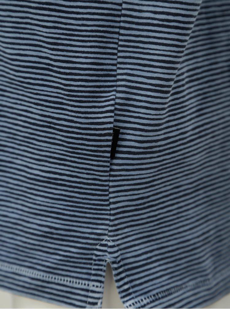 Modré pánské pruhované polo tričko Broadway Fionn