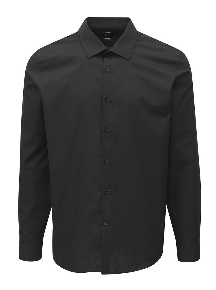 Černá slim fit košile