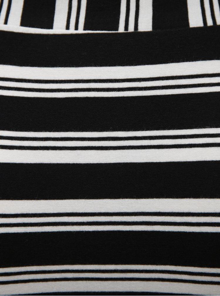 Bílo-černá pruhovaná pouzdrová midi sukně Broadway Debra