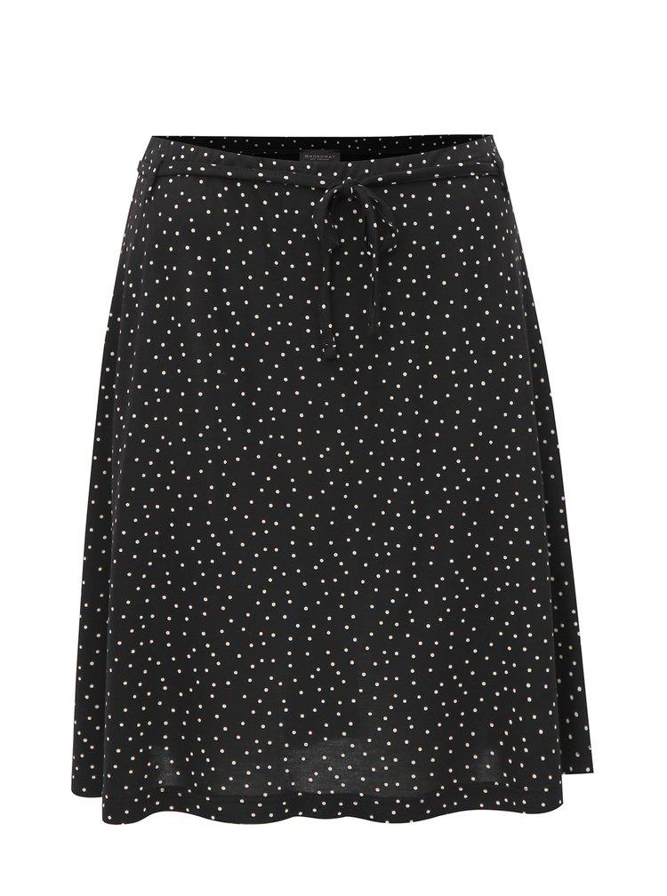 Čierna bodkovaná sukňa Broadway Muriel