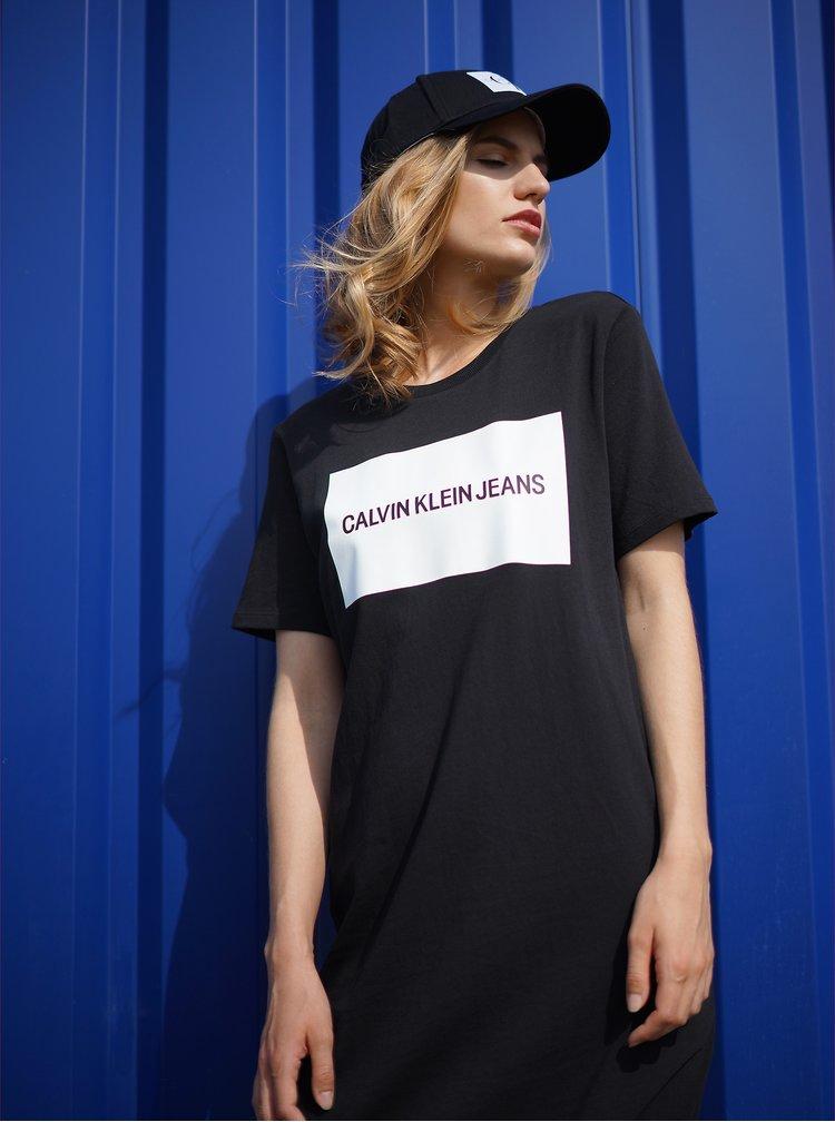 Černá kšiltovka s nášivkou Calvin Klein Jeans