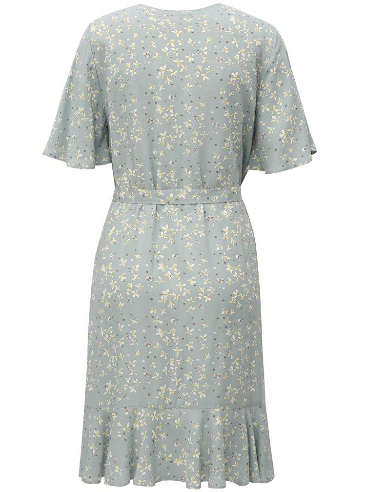 Šedé zavinovací květované šaty Broadway Chanina