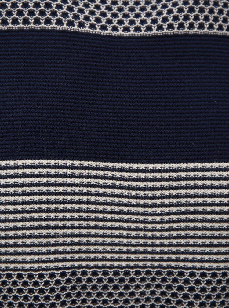 Tmavě modré pruhované svetrové tričko Burton Menswear London