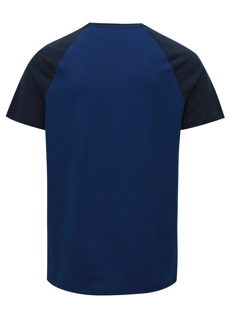 Tmavě modré regular fit tričko Burton Menswear London